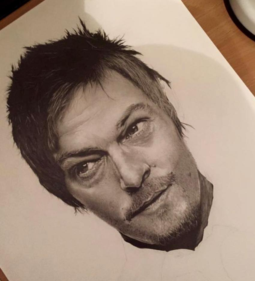 Norman Reedus par Finefinishportraits